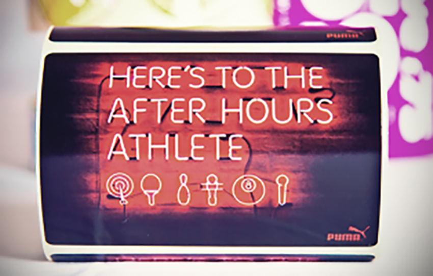 Here's to the after hours athlete sign