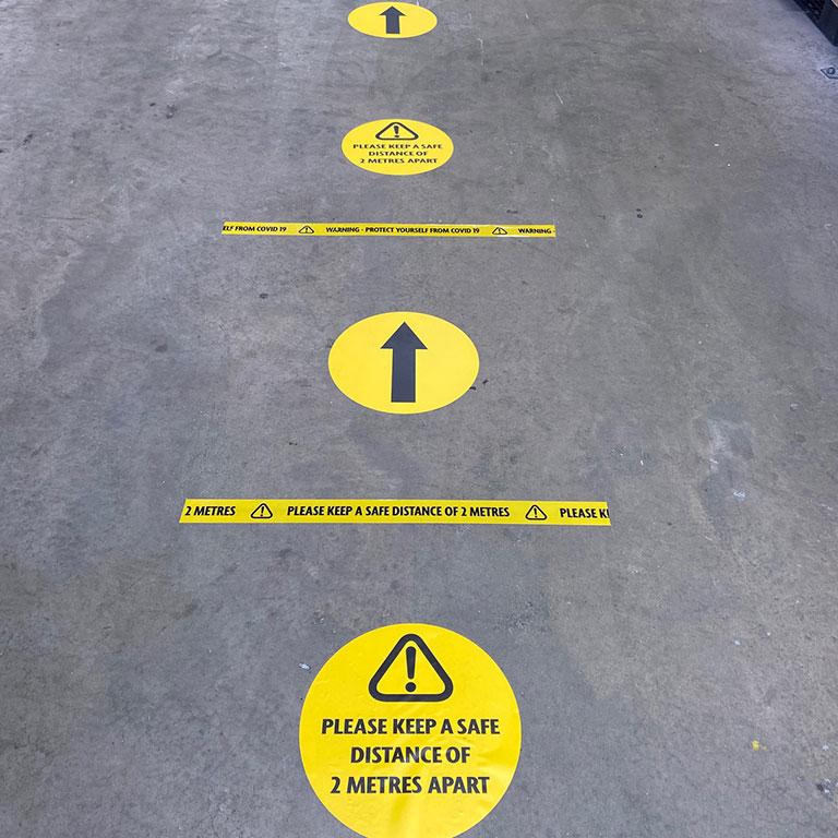 floor marking labels