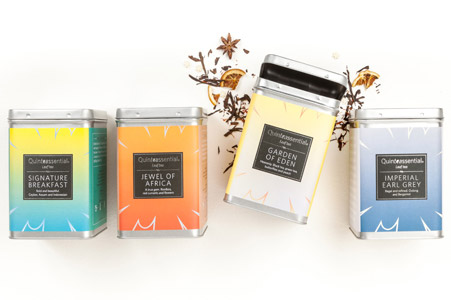 Quinteassential Tea labels